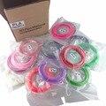 20 Colores pluma 3d filamento PLA 1.75mm Filamento Impresora 3D Materiales (10 M/color, total 200 M) De Impresión 3D Pen Impresora 3D