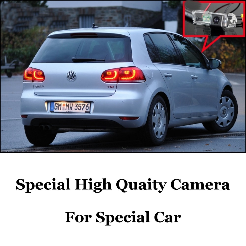 Car Camera For Volkswagen VW Golf4 Golf 4 Golf5 Golf 5 Golf6 Golf 6 High Quality Rear View Back Up Camera For Fans  CCD + RCA Car