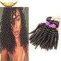 Nova Moda Cabelo Mongol Afro Crespo Encaracolado Virgem 3 pcs 6A Virgem Mongolian Kinky Curly Cabelo Weave Barato Cabelo Humano extensão