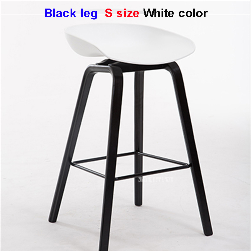 Shop For Cheap Minimalist Solid Wood Pp Plastic Bar Chair Northern Wind Fashion Creative Denmark Counter Stool Popular Furniture Home Office Storage