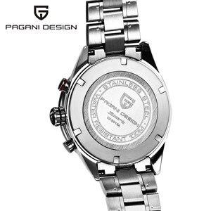 Image 3 - PAGANI עיצוב שחור חיוג משולב קוורץ הכרונוגרף tachymeter mens שעון