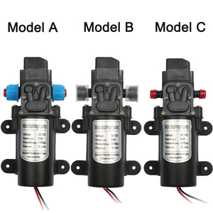 Image 3 - DC 12V 60W מיקרו חשמלי דיאפרגמה משאבת מים אוטומטי מתג 5L/min בלחץ גבוה מכונית כביסה תרסיס מים משאבת 0.8Mpa 5L/min