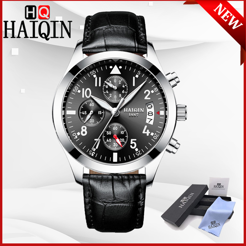 HAIQIN 2019 New Mens Watches Quartz Wristwatch Mens Top Brand Luxury Watch Men Sport Military Watch Clock Men Relogio Masculino