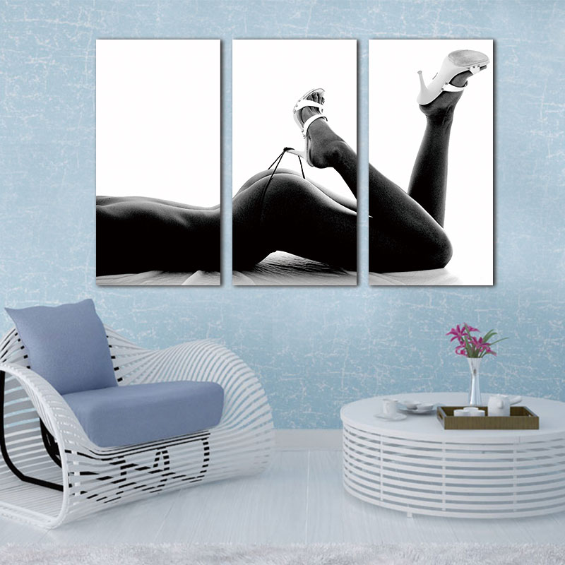 3 Panels Unframed Canvas Photo Prints Sexy Woman Body Wall Art Picture Canvas Paintings Wall Decorations Artwork Giclee Painting