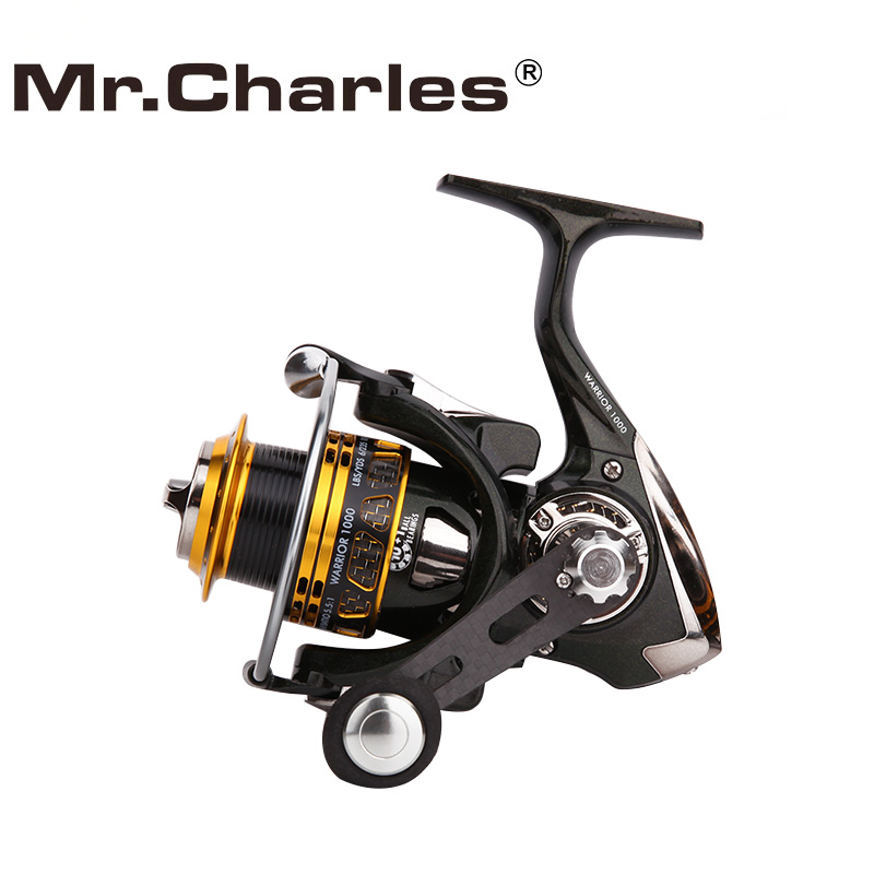 Mr.Charles Fishing Tackle Warrior carrete de pesca, carrete y cuerpo de fibra de carbono, carrete 10 + 1BB Fishing 1000 3000 carretes