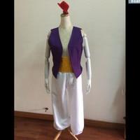 Aladdin Magic Lamp Prince Aladdin Halloween adult men cospaly Costumes Purple Vest White Pants Classic Prom Dress Up