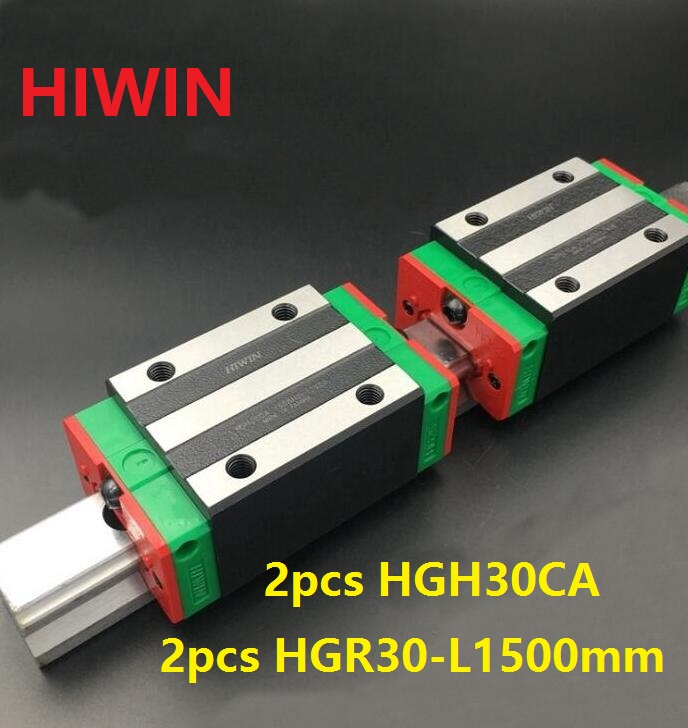 1pcs 100% original Hiwin linear guide rail HGR30 -L 1500mm + 2pcs HGH30CA narrow block for cnc 1pcs 100% original hiwin linear guide hgr30 l 300mm 1pcs hgh30ca narrow block for cnc router