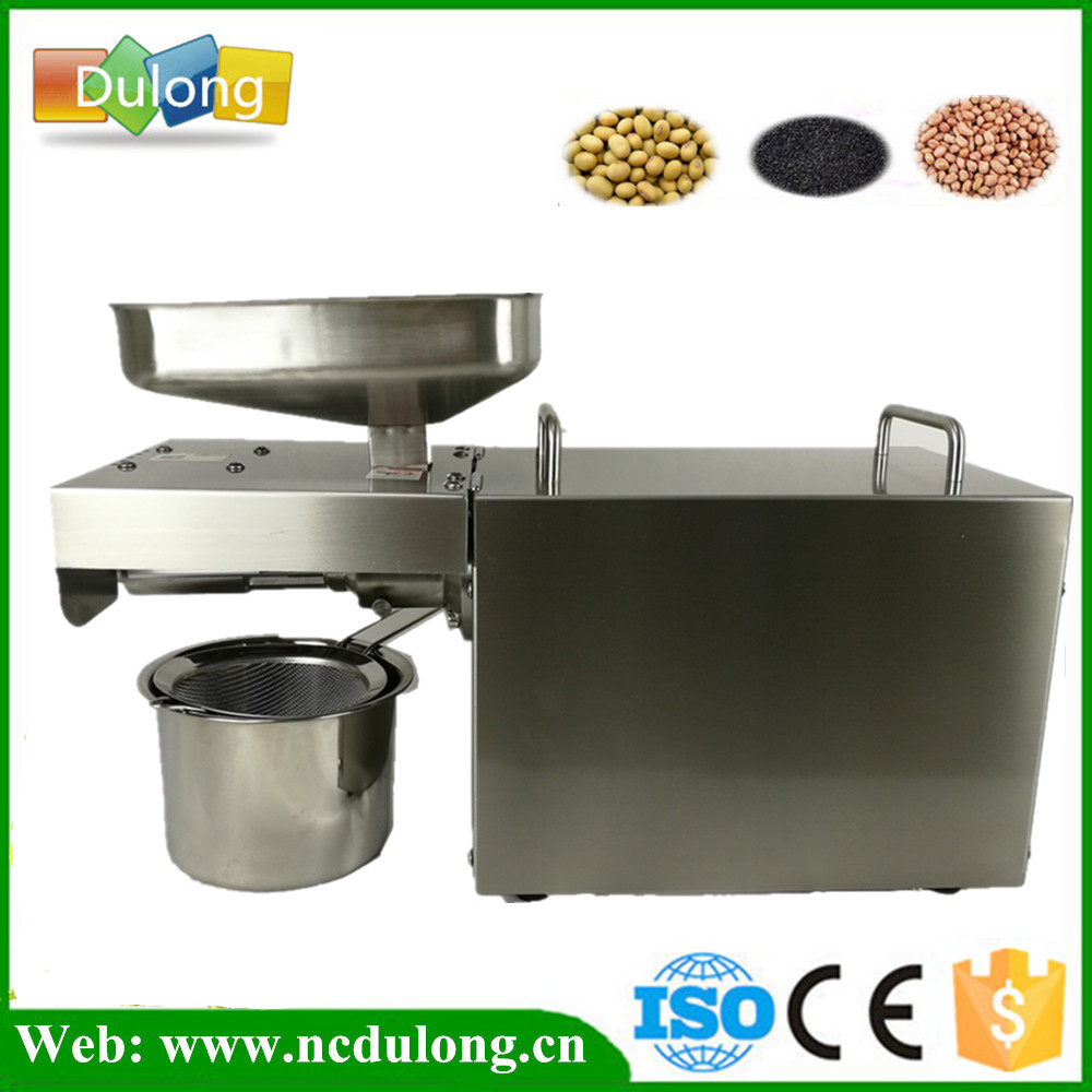 Soybean Sesame Peanut Oil Press Machine Nuts Seeds Oil Pressure Pressing Machine All Stainless Steel 110/220V With English Manua automatic mini oil press machine squeeze peanut oil pressing machine peanut sesame nuts corn oil machine hf 04 200w 220v 1pc