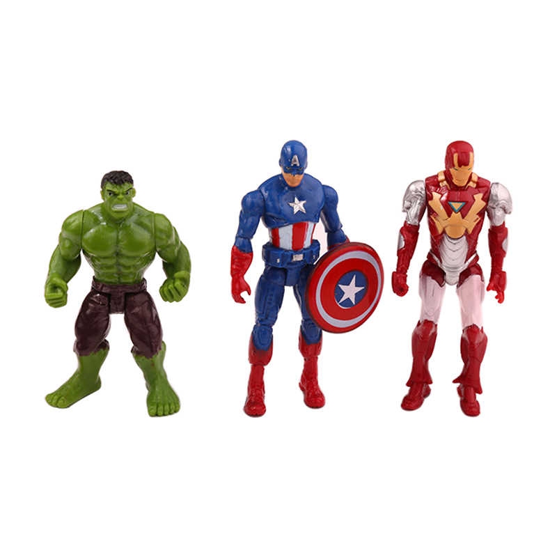 6 шт./компл. Marvel Мстители Бесконечность войны Человек-паук Железный человек супергерой Американский капитан Тор фигурка игрушка мальчик детская коллекция