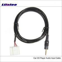 Liislee Original Plugs To AUX Adapter 3.5mm Connector For Toyota Corolla Car Audio Media Cable Data Music Wire