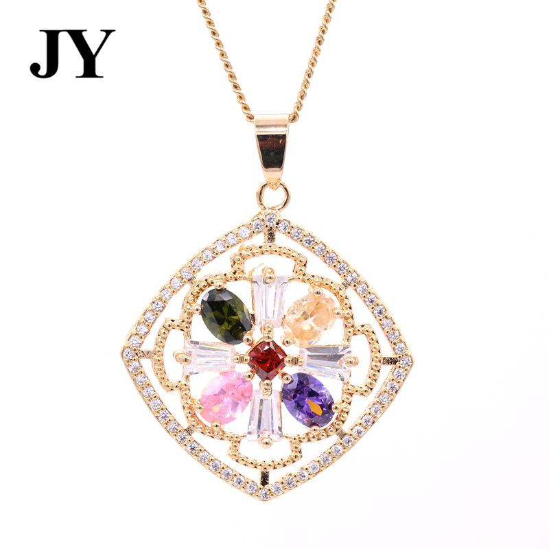 JY New Fashion Golf Color Mutiple Color Pendant For Women Woman Best Love Gift Charm Vintage Elegant Necklace For Friend