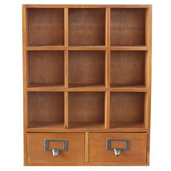 Винтажный ящик для хранения из цельного дерева, органайзер, многофункциональный ящик для хранения продуктов, органайзер для бытовой продук...