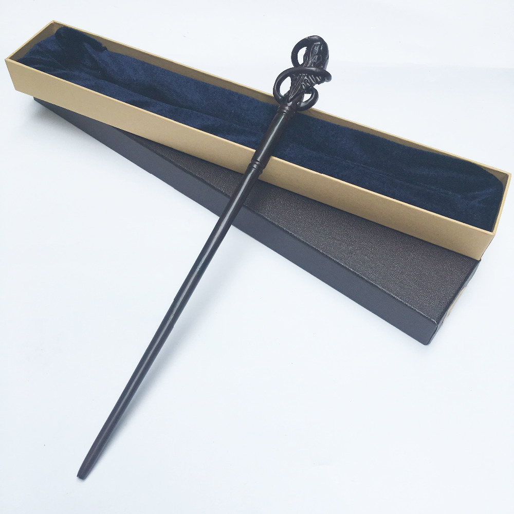 Newest Colsplay Metal Core Newest Quality Deluxe  COS DEATH EATERS Magic Wands/Stick with Gift Box Packing Harry Potter [yamala] new top quality severus snape magic wand with gift box cosplay game prop collection harry potter toy stick