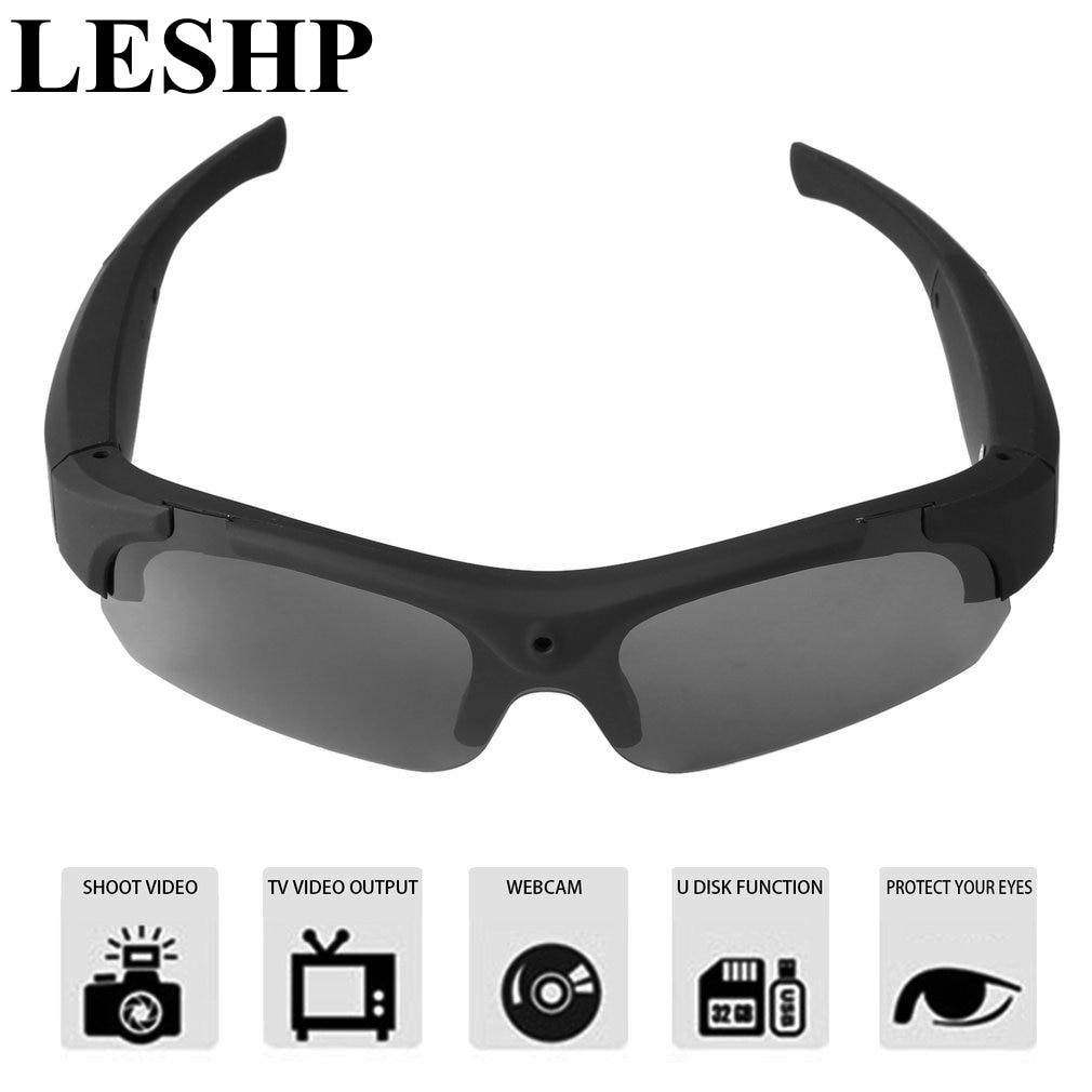 LESHP 1080P HD Polarized-lenses Sunglasses Camera Video Recorder Sport Sunglasses Camcorder Eyewear Video Recorder