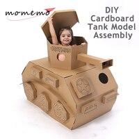 MOMEMO творческие DIY игрушки танк модели сборка модели строительных Наборы картона собрать пазл модель устанавливает на день рождения рождест