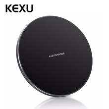 KEXU Fast Wireless Charger iPhone 8 /iPhone 8 Plus/iPhone X,qi Wireless Charging Pad for Galaxy S8/ S8 Plus/ S7 / S6 / Note 8