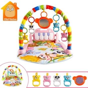 Детский Игровой музыкальный коврик, коврик, игрушки для детей, игровой коврик для ползания, развивающий коврик с клавиатурой для фортепиано...