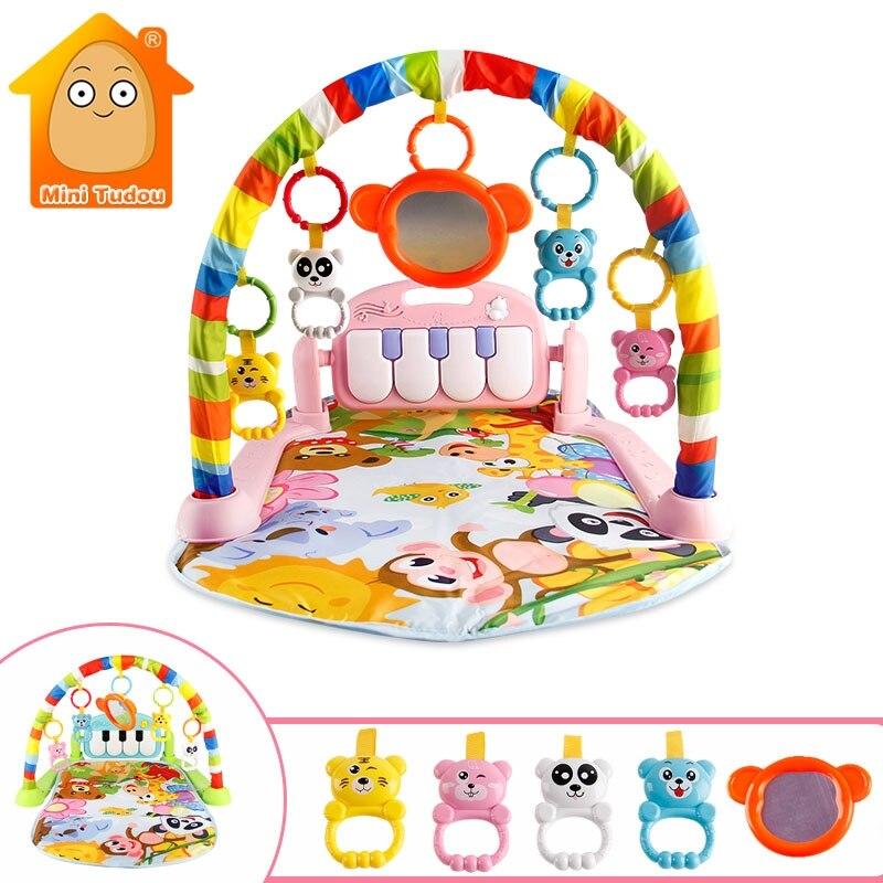 Bebê jogar música tapete brinquedos criança rastejando jogo esteira desenvolver esteira com teclado piano infantil educação precoce rack brinquedo