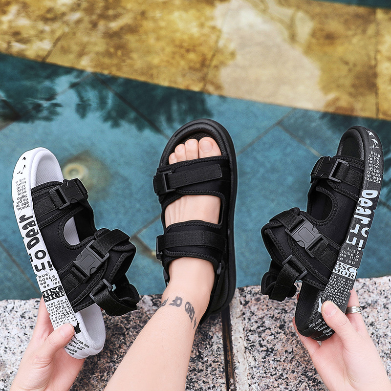Man Sandals 2019 Summer Beach Gladiator Men's Outdoor Shoes Roman Men Casual Shoe Flip Flops Fashion Slippers Flat Plus Size 46