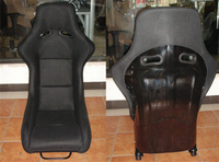 One Lot 2 Pcs Buckets Series Car Seat RAH Fiberglass Frame Black Blue Red Alcantara Suede