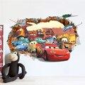 Carros dos desenhos animados de quarto de criança adesivos de parede para quarto de crianças menino quarto decalques de parede cartaz janela do carro 3D adesivos de parede papel de parede