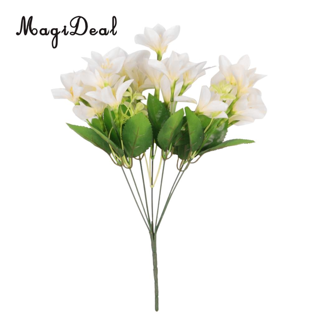 Magideal Lily Lilium Nanum Flowers Bunch Artificial Flower 3 Colors