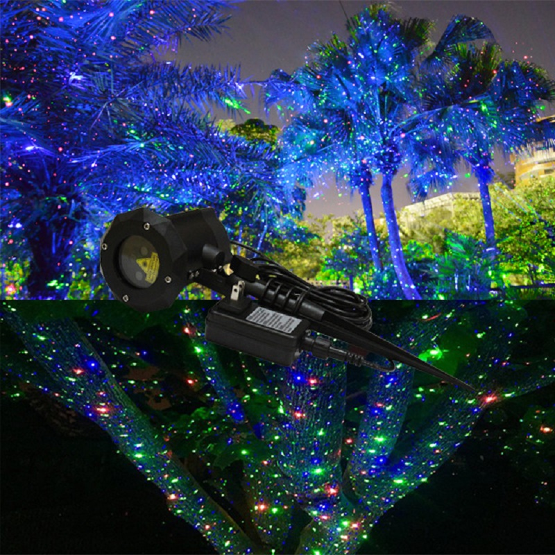 2016 new products ip 65 outdoor christmas star projector laser light shower moving twinkle rgb light projector landscape light in stage lighting effect from