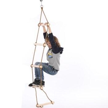 Kinder holz leitern Fünf-schritt holz kleine leitern Indoor outdoor fitness spielzeug kinder schaukel spielplatz ausrüstung