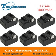 6PCS High Quality New 18V 4000mAh Power Tool Battery For Hitachi BSL1830  BSL1840 330067 Power Tool 4000mAh