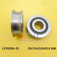 25 MM track LFR5206 25 NPP LFR5206 KDD R5206 25 2RS Groove Track Roller Bearings 25*72*23.8 mm (Precision double row balls)