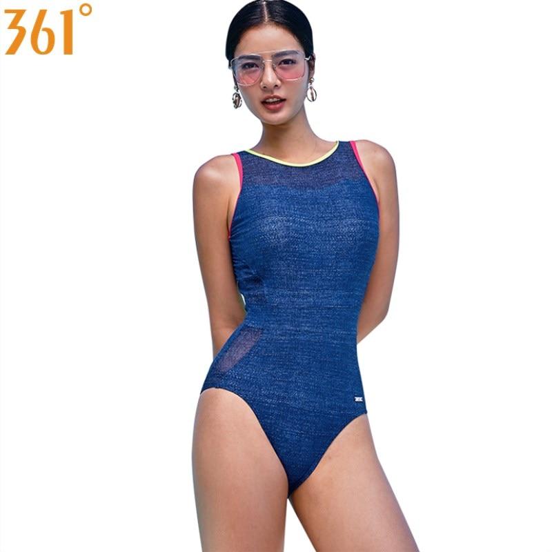 361 One Piece Bathing Suit Women Swimsuit Sport Swimwear Sexy Swimming for 2019 Monokini Female Girls Bikini