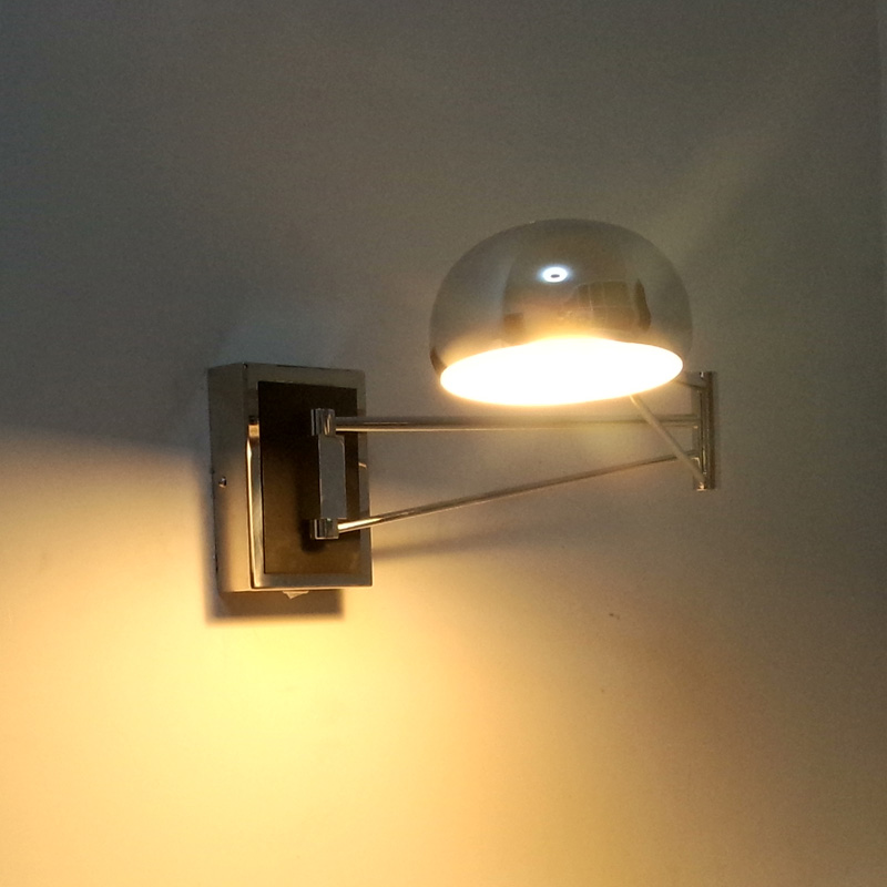Chrome Wall Sconce Bedside wall fixtures Lighting for bedroom ...