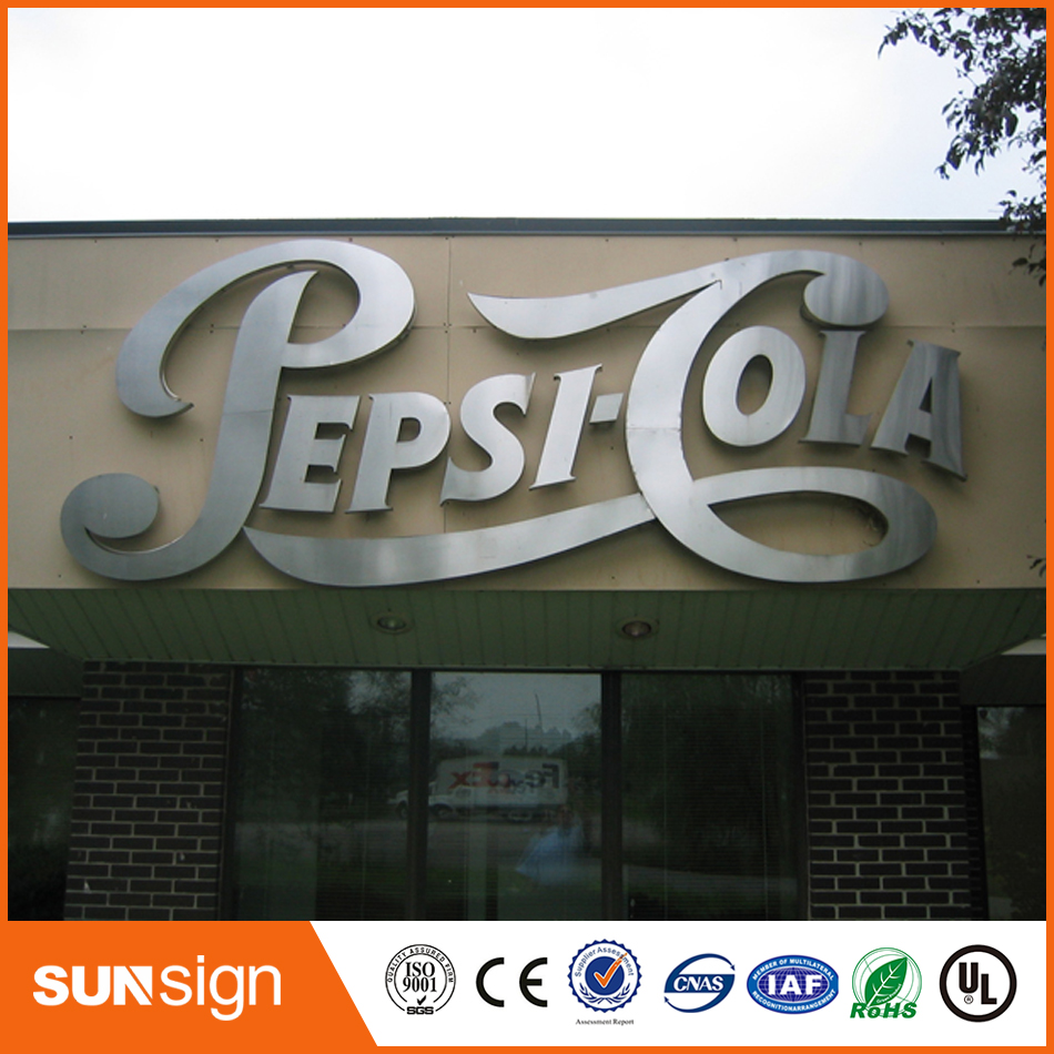Hot Sale 3D Chrome Silver Metal Letters