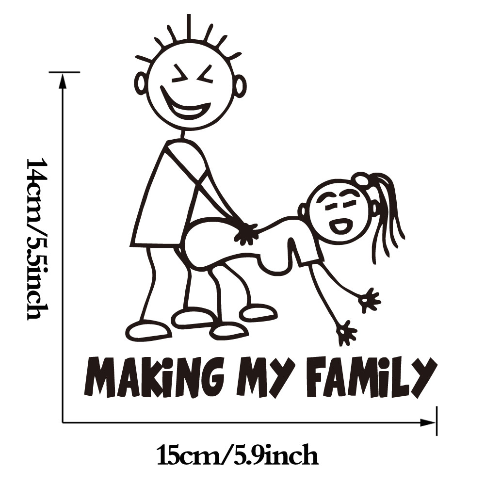 Making My Family Computer Stickers Creative Pattern Cartoon Laptop Vinyl Adhesive Car Styling In Wall From Home Garden On Aliexpress