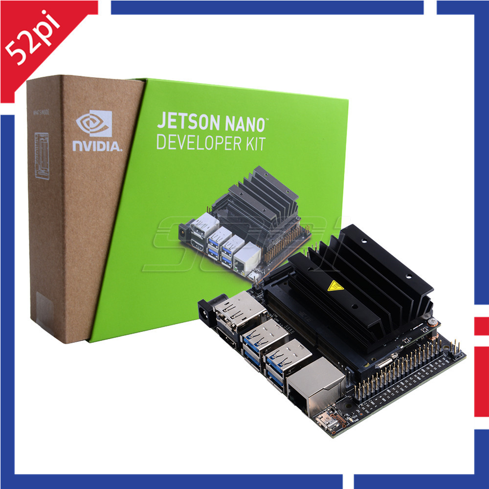 52pi NVIDIA Jetson Nano Developer Kit 64-bit ARM CPU 128-core Integrated For Artiticial Intelligence Deep Learning AI Computing