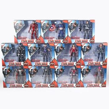 Figuras de acción de vengadores, Iron Man, Capitán América, Antman, Hulk, Spiderman, Thanos, Black Widow Panther, Scarlet Witch, juguete en caja