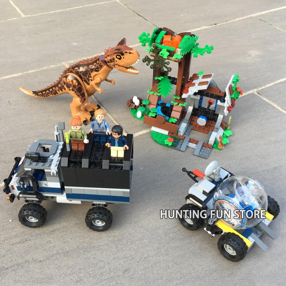 Jurassic Camion World Cadeaux Escape Construction Gyrosphere Dinosaures Park Legoness Blocs Animaux Carnotaurus 75929 2 Figurines Jouets Fit De CxBrWdoe