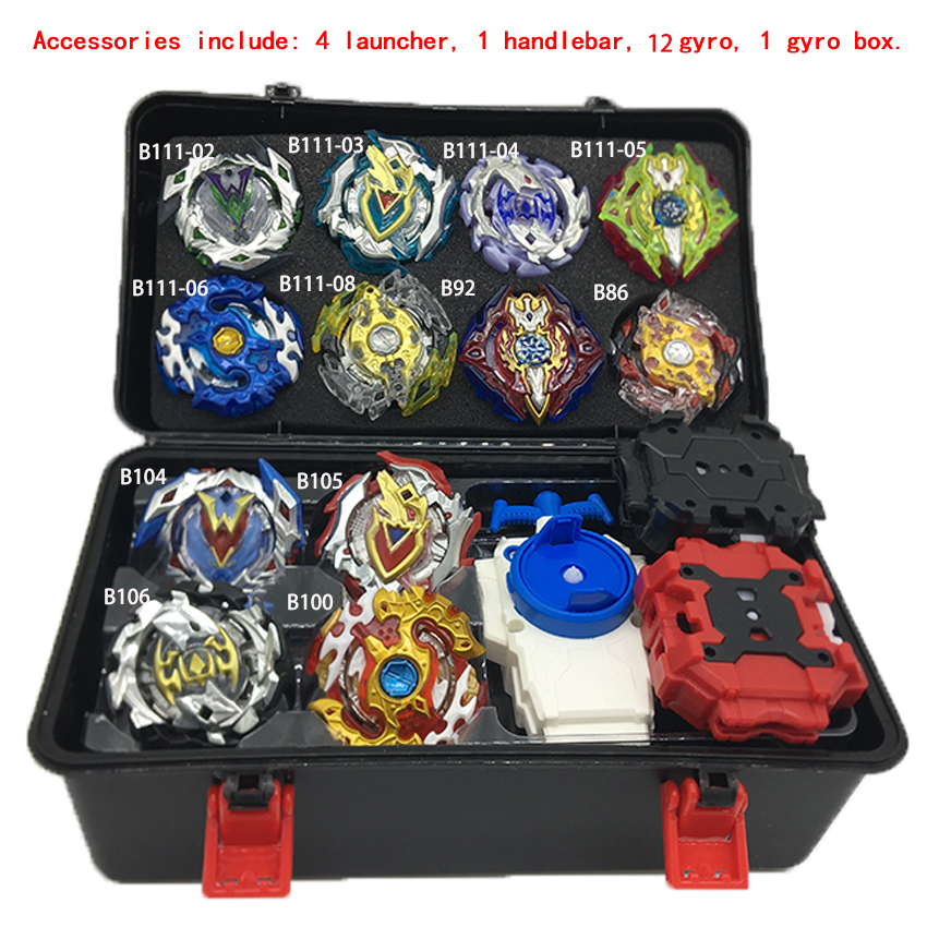 Toupie Beyblades Metal Fusion Beyblades Set Storage Box Top Beyblade burst bey 4D With Launcher Beyblade Toys For Children Boy A цена