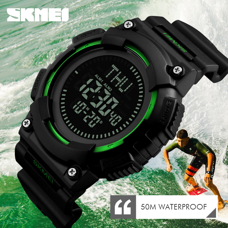 SKMEI Men Compass Outdoor Sports Watches LED Electronic Multifunction Digital WristWatches Waterproof Clock Relogio Masculino sports outdoor multifunction electronic watch for men