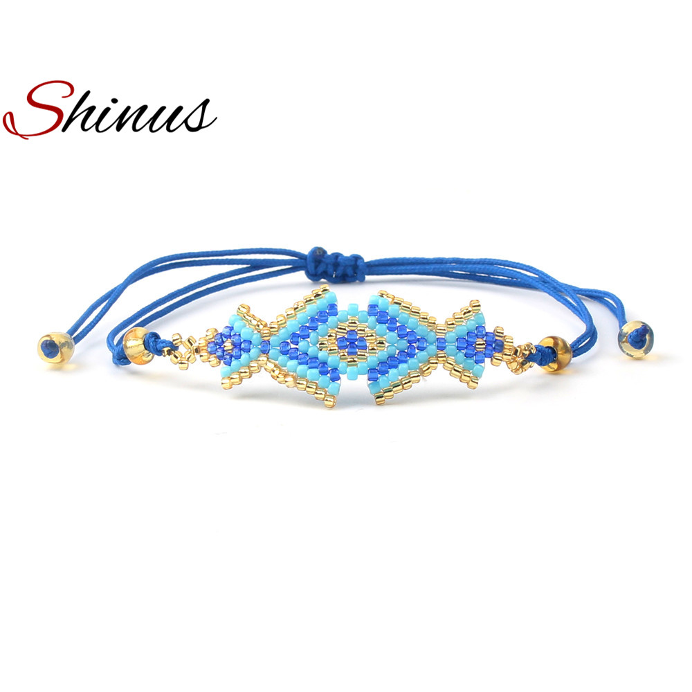 Shinus Friendship Bracelets Women Bracelet Femme Fashion Jewelry Handmade Diy Love Seed Beads Woven Cute Grils Gifts Pulseira