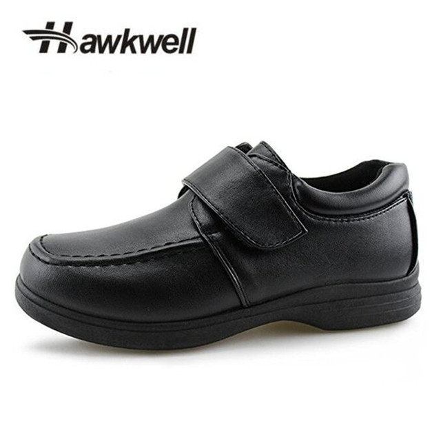 Black Boy Hook Loop School Shoes Strap Uniform Oxford Dress Shoes