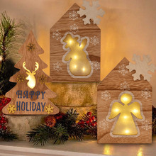 Hot Sale HOME Model Tree Wooden Night Light  LED Wall Night Lights Lamp Home Ornaments Desk Decor for Kids Christmas Day christmas tree shape led night light wall home decor