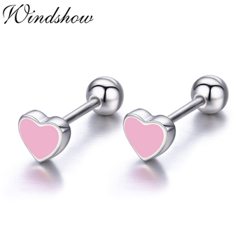 Cute Small Black Heart 925 Sterling Silver Screw Stud Earrings For Women Girls Children Baby Kids.jpg 350x350 - Cute Small Black Heart 925 Sterling Silver Screw Stud Earrings For Women Girls Children Baby Kids Jewelry Orecchini Aros Aretes