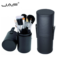 JAF 12Pcs Makeup Brushes Set Synthetic Hair Powder Concealer Foundation Brush With Holder Pincel Maquiagem Horse