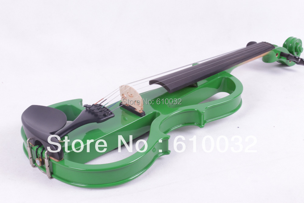 4/4 Electric Violin Solid wood 8 --8# silvery  green  color  5 string 8 4 1030788