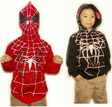 2015 spring autumn new design high quality children's outerwear cardigan hooded jacket child sweatshirt halloween spiderman coat