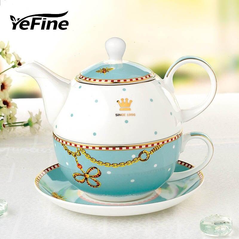 YeFine Portable Travel Tea Set Bone Porcelain One Person Teaware Set Ceramic Teapot And Tea Cups