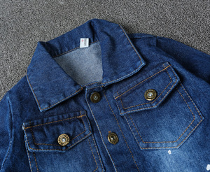 Image 4 - Children Boys Overalls Baby Girls Denim Jeans Bodysuit Kids Childrens Clothing Toddler Girl Navy Blue Spring Autumn Pants