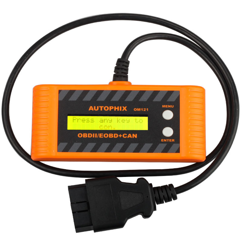 2017 newest OM121 OBD2 EOBD CAN Engine Code Reader OBD OM 121 Auto Diagnostic-Tool Free Shipping top 100% original xtool vag401 obd2 obdii auto diagnostic tool abs srs engine trouble code reader update online free shipping