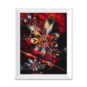 Image 4 - Hot europa diament malarstwo Cross Stitch kwiat 5D Diy diament haft Rhinestone robótki wystrój domu